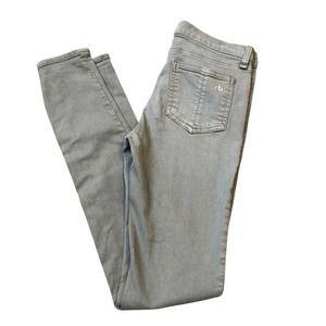 rag & bone Light Gray Sage Jeans 26 Skinny